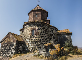 Sevanavank is a monastic complex located on the northwest coast of Lake Sevan in the Gegharkunik Province of Armenia, not far from the town of Sevan