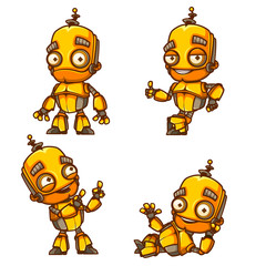 Set of four robot poses