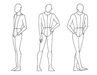 Fashion Croquis Men