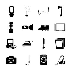 icon Technology with electronic, technology, tool, icon and accessories