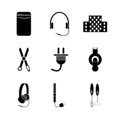 icon Technology with lifestyle, handle, flash card, music and icy