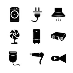 icon Electronic with multimedia, light, coolness, hair and domestic
