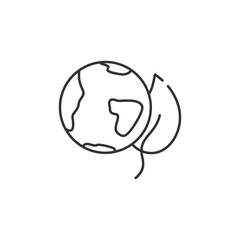 Eco globe line icon. Simple element illustration. Eco globe line symbol design from Ecology collection set. Can be used in web and mobile