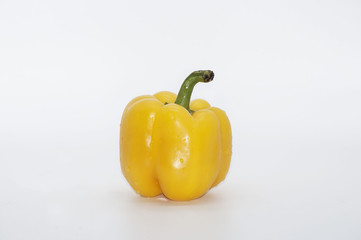Pimentão amarelo e vermelho