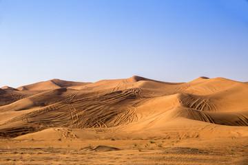In de dag Oranje eclat Day in the desert