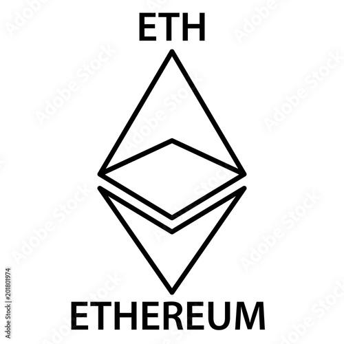 Ethereum Cryptocurrency Blockchain Icon Virtual Electronic Internet Money Or Cryptocoin Symbol Logo
