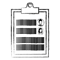 clipboard with curriculum vitae document vector illustration design