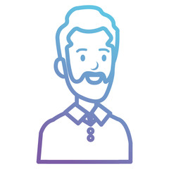 businessman with beard avatar character icon vector illustration design
