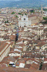 Wall Mural - Aerial view of Florence, Tuscany, Italy