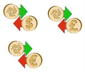 exchange iota to dollar , euro and british pound