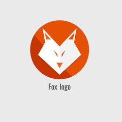 page fox Orange logo. modern on white background