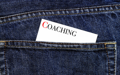 Coaching symbol on a business card