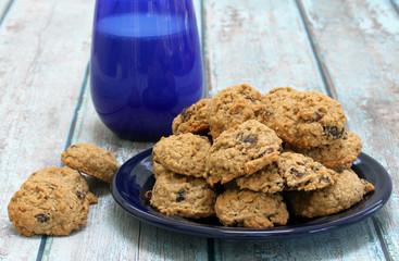 Homemade Raisin Oatmeal cookies.