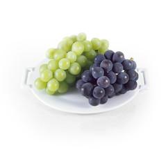 マスカットとピオーネ (muscat grape on white background)