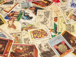 Postage stamps texture