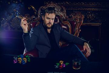rich gambler man