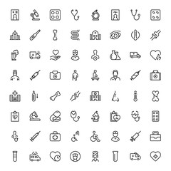 Oncology flat icon set