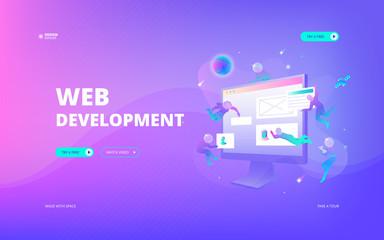Web development web banner Wall mural