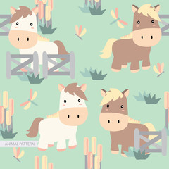 Animal Seamless Pattern Decoration for Child