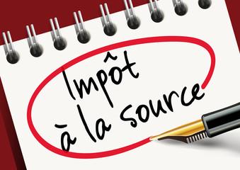 impôt - impôt à la source - réforme - salarié - salaire - entreprise - stylo - présentation - titre