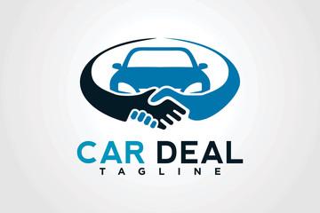 car deal logo design template