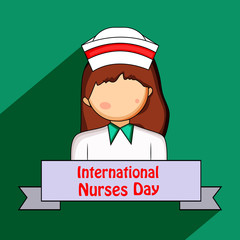 Illustration of background for International nurse day