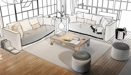 Postindustrial Penthouse Loft (drawing)