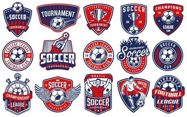 Set of soccer emblems