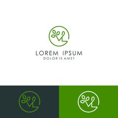 Initial letter VL logo template vector illustration