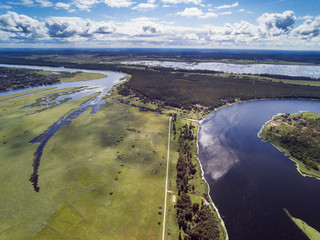 River Lielupe lower reaches and lake Babite, Latvia.
