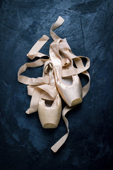 Ballerina shoes, Pointe shoes without people