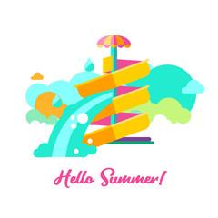 Hello summer. Vector illustration.