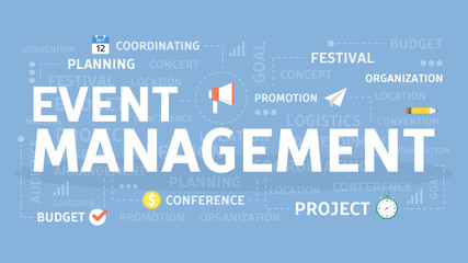 Event management concept.