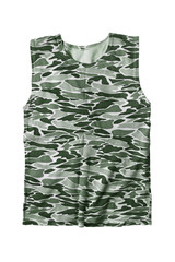 Military top isolated