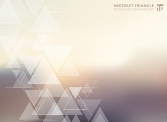 Abstract technology blurred background with triangles pattern element.