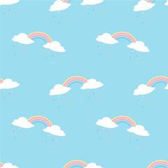 Rainbow seamless pattern.