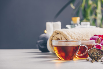 Tea and SPA composition