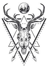 Deer Skull Sacred Geometry