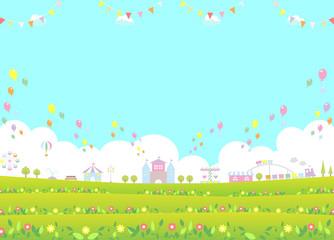 テーマパーク 花畑