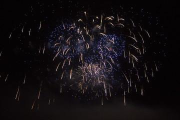 firework at Versailles palace at night