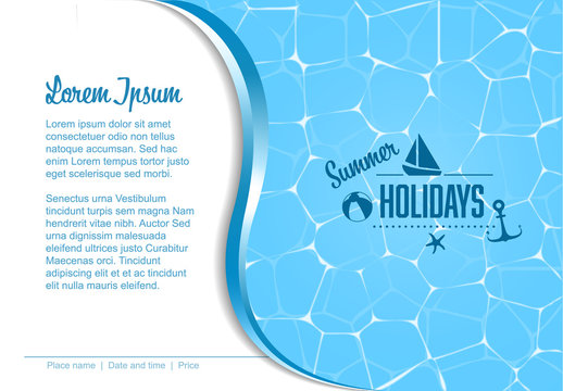Vector summer party template