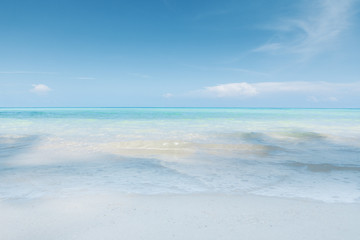 View of nice tropical beach with white sand