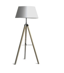 Tripod Floor Lamp with three wooden legs