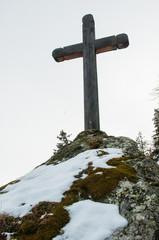 Croix en hiver