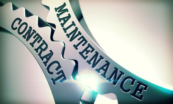 Maintenance Contract - Mechanism of Metal Cogwheels . 3D .