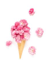 Spring flowers Cherry tree blossom ice cream waffle cone