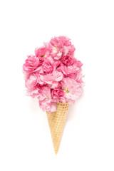 Cherry tree blossom flower ice cream waffle cone