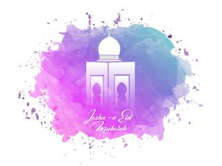 nice and beautiful abstarct or poster for Eid Mubarak or jash-e-Eid or Ramadan Kareem Mubarak with nice and creative design illustration.