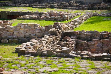 Excavations of the ancient city and the ancient stone walls