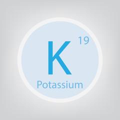 Potassium K chemical element icon- vector illustration